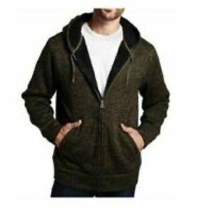 Men's zip up fur lined hoodie NWT